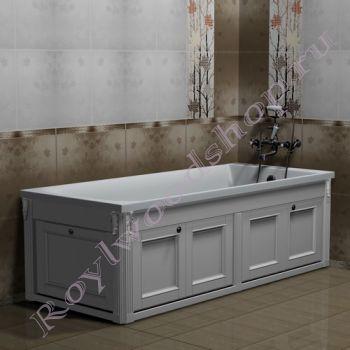 """Экран для ванны """"Руссильон PROVENCE складной, белый"""""""