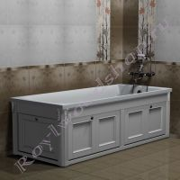 """Экран для ванны """"Руссильон PROVENCE складной, белый"""" в закрытом виде"""