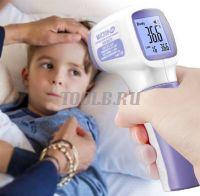 МЕГЕОН 16051 Термометр инфракрасный медицинский бесконтактный для измерения температуры тела. Доставка по России и СНГ