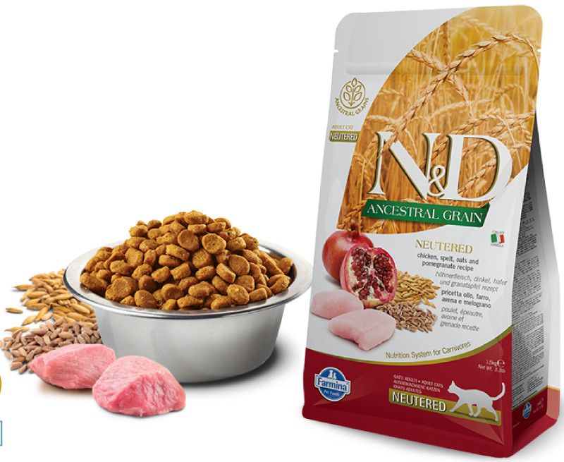 Farmina N&D ANCESTRAL GRAIN  д/к стерилизованных курица с гранатом