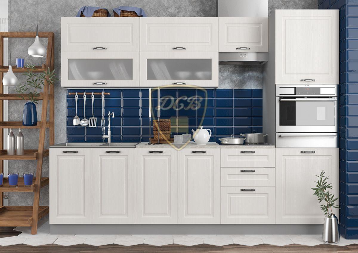 Кухонный гарнитур Капри 2700 Липа белый