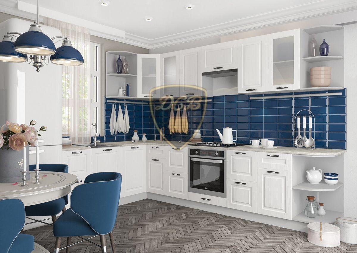 Кухонный гарнитур Капри 1,4х3,1 Липа белый