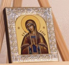 Семистрельная икона Божией Матери (9х10,5см)