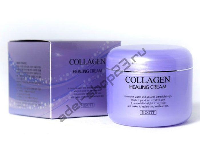 Jigott - Эффективное средство против морщин и гусиных лапок Collagen Healing Cream