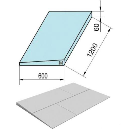 Утеплитель ТехноНиколь XPS Carbon Prof 250 Клиновидный Slope -8,3% S/2 Элемент M, 1200х600х70мм