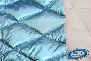 Стежка образец Стеганная Плащевая ткань -фольга