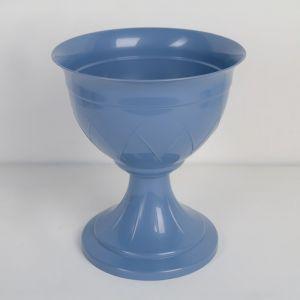 Горшок на ножке «Лилия», 3,5 л, цвет дымчатый синий