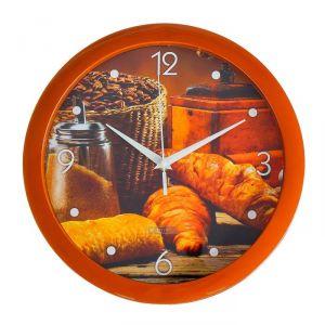 """Часы настенные, серия: Кухня, """"Круассан с кофе"""", 28 ? 28 см 2436428"""