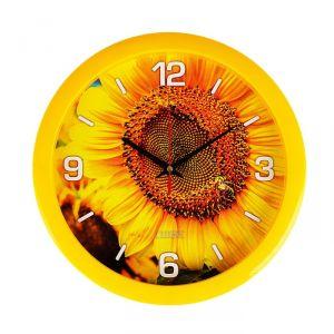 """Часы настенные, серия: Цветы, """"Солнечный цветок"""", 28х28 см 2436427"""
