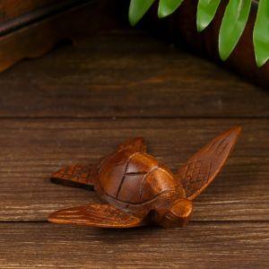 """Сувенир """"Морская черепашка"""" дерево 14х10х3,5 см   4575154"""