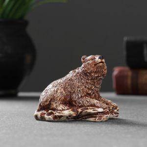"""Фигура """"Медведь на камне"""" 4,7х6,2х4 см 1414590   4783482"""