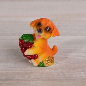 """Сувенир полистоун """"Пёсик с фруктом"""" МИКС 5,8х5х2,7 см 2325428"""