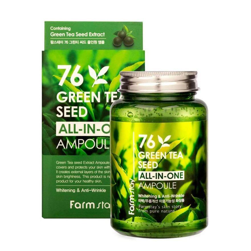 Многофункциональная ампульная сыворотка с зеленым чаем FarmStay Green Tea All-In One Ampoule