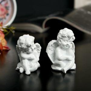 """Сувенир полистоун """"Белоснежный ангел малыш"""" МИКС 5х4х3,5 см   3739154"""