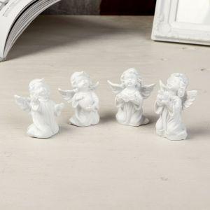 "Сувенир полистоун ""Белоснежный ангел на коленях"" МИКС 5,5х4х2,5 см   4363976"