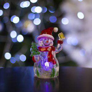 """Игрушка световая """"Снеговик-весельчак"""" (батарейки в комплекте) 1 LED, RGB 1077333"""