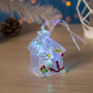 """Игрушка световая """"Домик деда Мороза"""" (батарейки в комплекте) 1 LED, RGB 4797371"""
