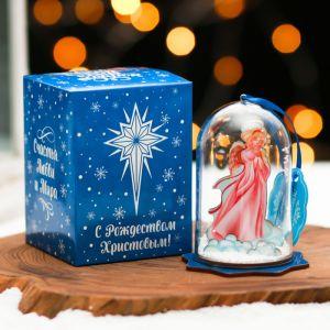 Сувенир рождественский со снегом «Ангел»