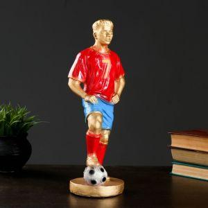 """Фигура """"Футболист №7"""" бронза с красным, 38см   3184569"""