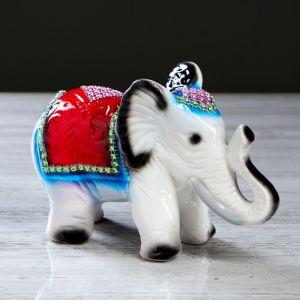"""Статуэтка """"Слон"""" стразы, серый"""
