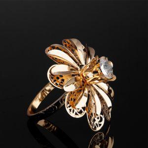 Набор колец для салфеток «Цветы», 6 шт, D=5.5 см, 7?7?7 см, с кристаллами Сваровски   4552522