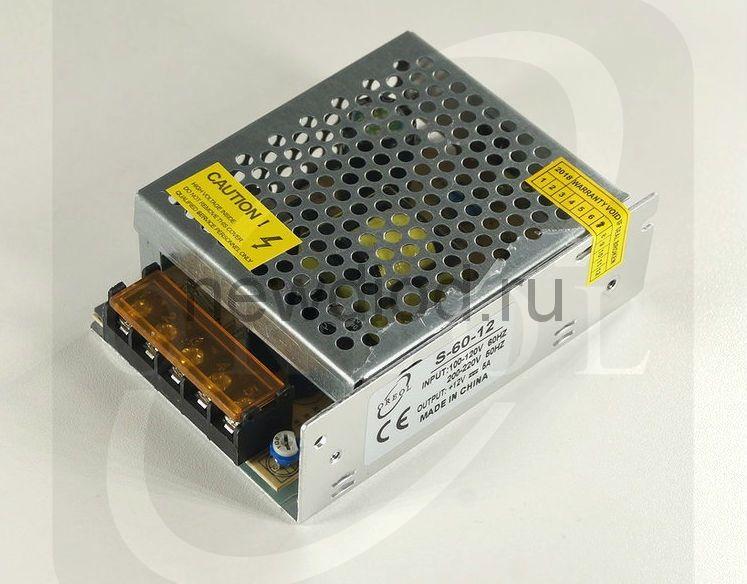 Блок питания PRO 60W.12V.5A.IP20 (Металлический корпус) OREOL