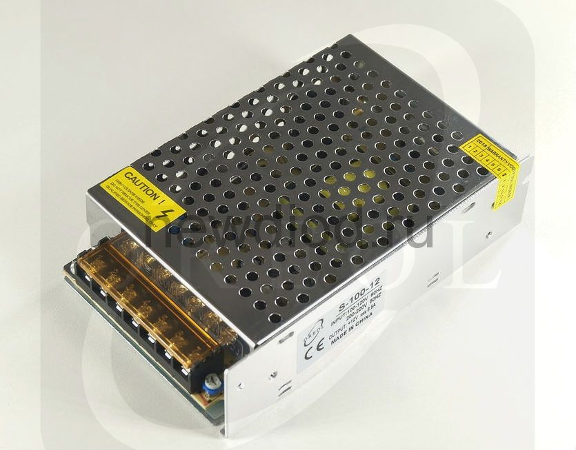 Блок питания PRO 100W.12V.8.5A.IP20 (Металлический корпус) OREOL