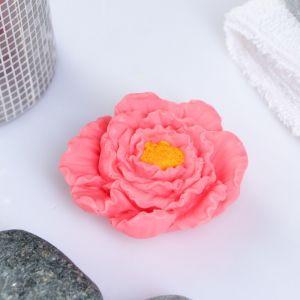 """Мыло фигурное """"Пион"""" розовый 40 г   3877410"""