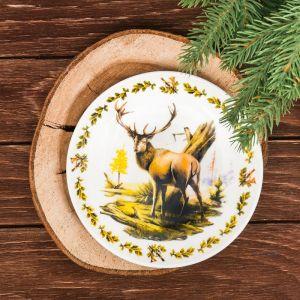 Тарелка декоративная «Олень», ? 15 см