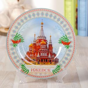 Тарелка декоративная «Ижевск», d=20 см