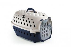 Переноска для транспортировки Stefanplast Gulliver Travel Chic до 6кг небесно-голубая с пластиковой дверцей 48х32х31см для кошек и собак