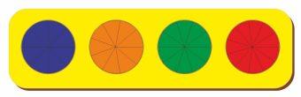 Рамка вкладыш Дроби, Никитин, 4 круга, ур.3, в асс-те