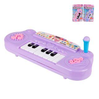 Пианино детское в ассорт., бат.AA*2шт. в компл.не вх., блистер
