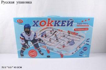 ДЕФЕКТ УПАКОВКИ НИ Хоккей, поле 65*40,5см, в наборе 34 предм., кор.