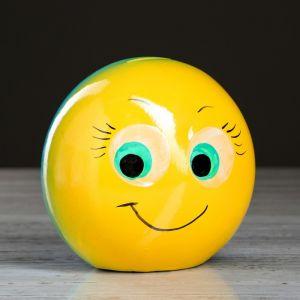 """Копилка """"Смайлик"""", жёлтый цвет, 11,5 см"""