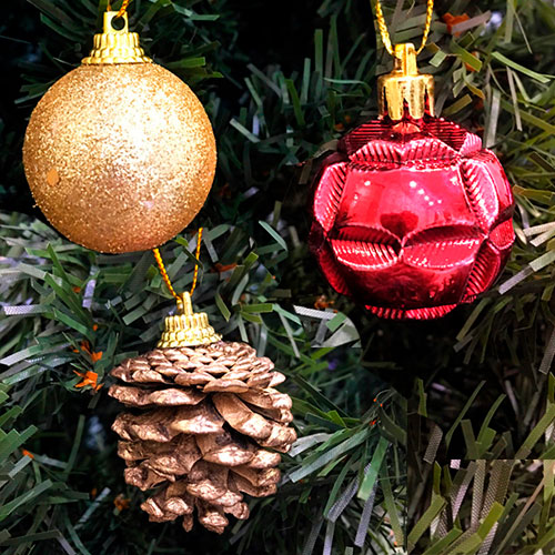 Набор новогодних елочных украшений Merry Christmas, 4 см 20 шт