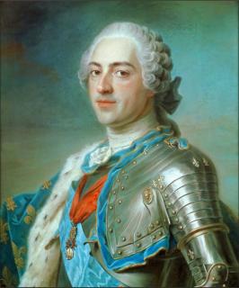 Портрет короля Людовика xv (Репродукция Ван Лоо, Луи Мишель 1763 г.г.)