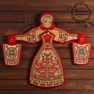 Набор кухонный «Матрёшка», 4 предмета, пучужская роспись 3686356