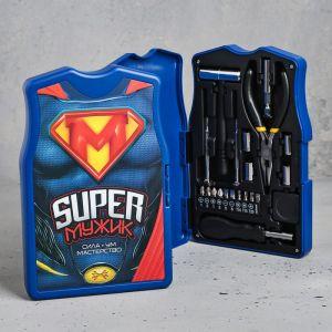 Набор инструментов «Super Мужик», в майке, 21 предмет