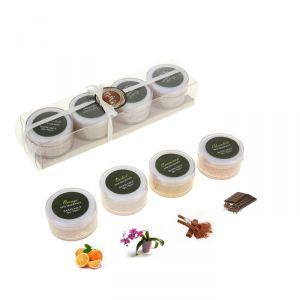 Соль для ванны (набор 4 шт) по 50 гр Орхидея, Корица, Шоколад, Апельсин 1044092