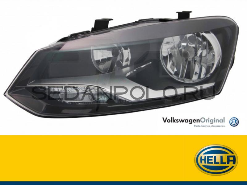 Фара передняя левая VAG Hella H7 Volkswagen Polo Sedan