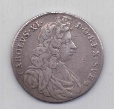 4 марки 1691 года Карл XI Швеция