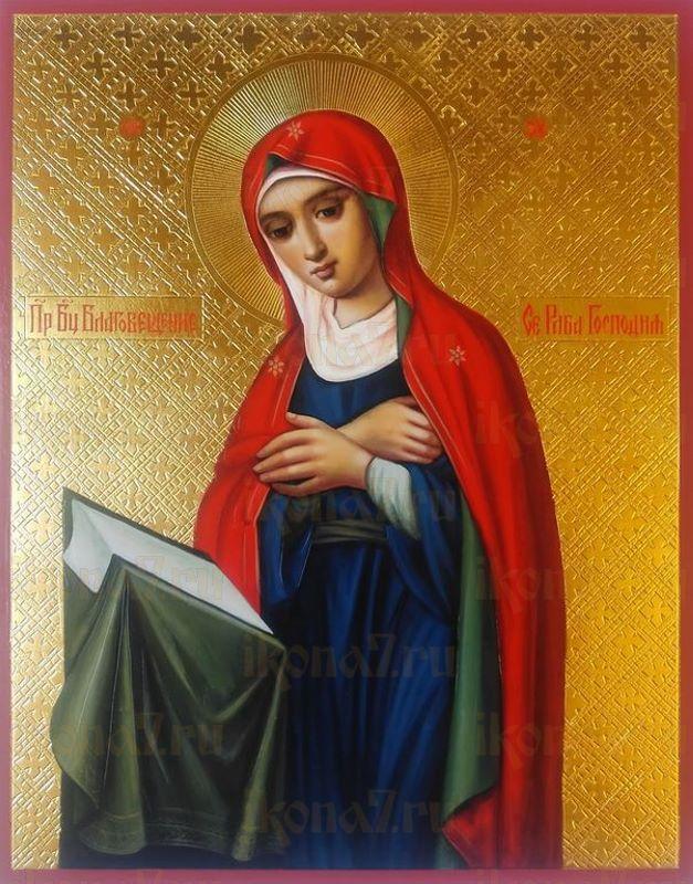 Икона Пресвятой Богородицы Се Раба Господня  без Архангела