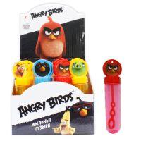 1toy Angry Birds, мыльные пузыри, колба с кругом на крышке, 40 мл