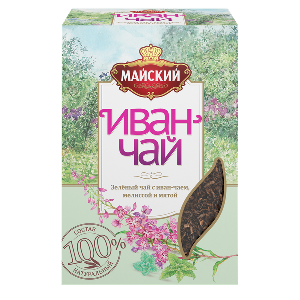 Чай Майский зеленый Иван-чай с мелиссой и мятой 75г