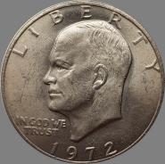 1 ДОЛЛАР ЭЙЗЕНХАУЭРА 1972 ГОД. БОЛЬШАЯ МОНЕТА, КРОНОВОГО РАЗМЕРА