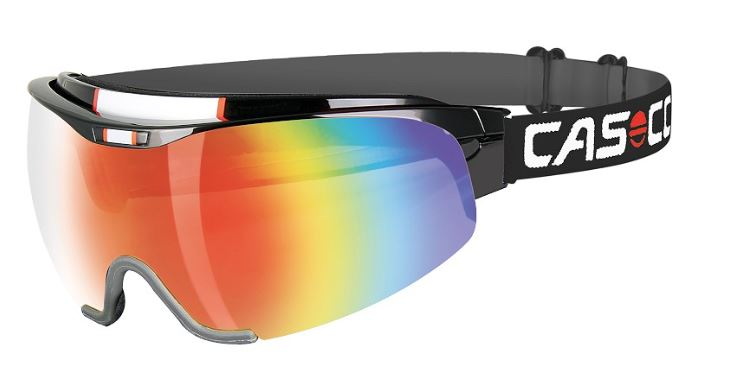 Маска-козырек CASCO SPIRIT Carbonic black-rainbow