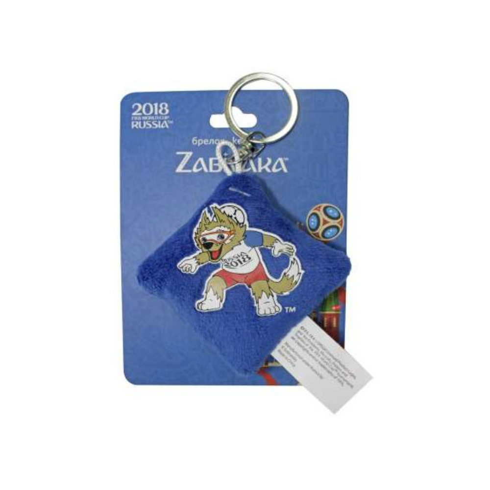 FIFA-2018 Zabivaka Neck-Ball, плюшевый брелок-подушечка, термопринт, 6х6 см