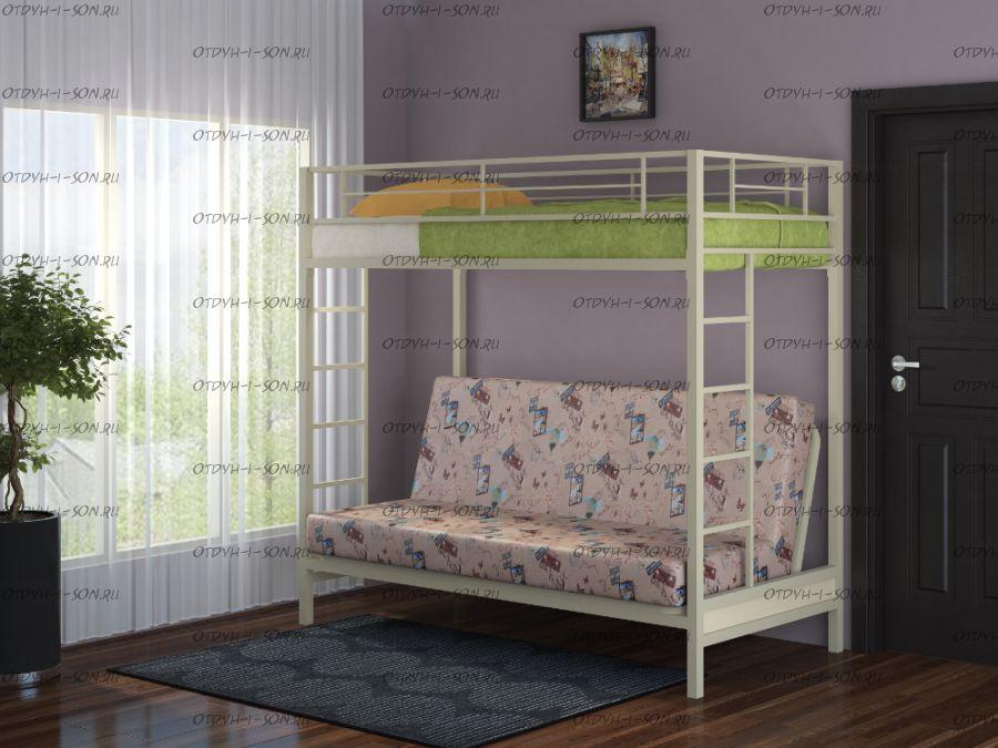 Кровать двухъярусная с диваном Мадлен ФМ