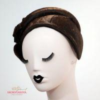 Меховая повязка каскетка каракульча